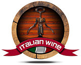 Italian Wine - Wooden Icon