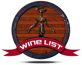 Wine List - Wooden Icon