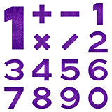 Numbers set, violet space