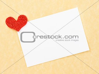 blank gift card for text on parchment paper background
