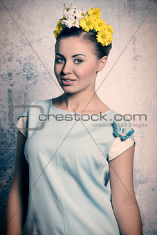 Beautiful, spring woman