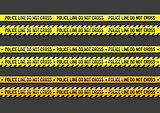 Vector Police line do not cross tape