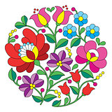 Kalocsai embroidery - Hungarian round floral folk pattern