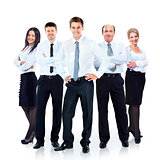 Group of business people team. Isolated