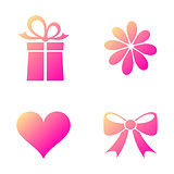 Happy valentine icons