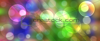 Bright Rainbow Circles Panorama Banner