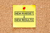 New Mindset New Results Sticky Note