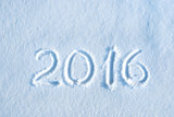 2016 written in snow