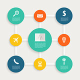 Infographic design with paper creative icons.