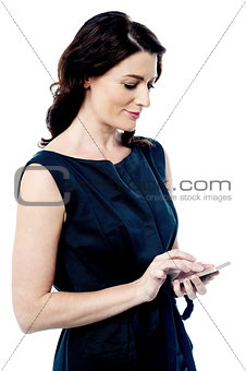 Beautiful woman using a smart phone