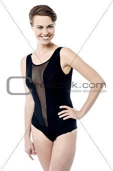 Preet woman in monokini swimsuit