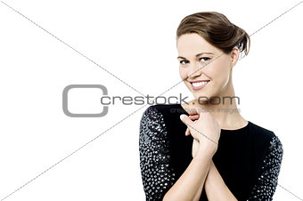 Casual woman posing in style
