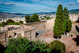 Courtyard of a Gibralfaro fortress