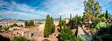 Gibralfaro fortress (Alcazaba de Malaga) and view of Malaga city