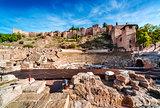 The Roman Theatre in Malaga. Andalusia, Spain