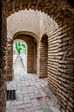 Inside of Gibralfaro fortress (Alcazaba de Malaga). Malaga city.