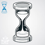 Eps8 highly detailed vector sand-glass illustration, includes ad