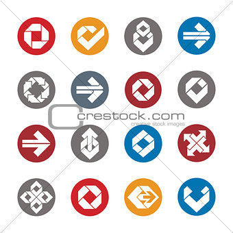 Abstract creative design elements vector collection, abstract bu
