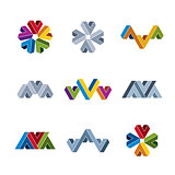 Abstract creative icons vector collection, abstract business des