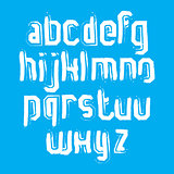 Vector stylish brush lowercase letters, handwritten font, sans s