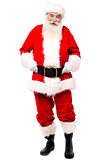 Authentic look of traditional father christmas