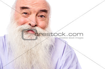 Close up image of old man face