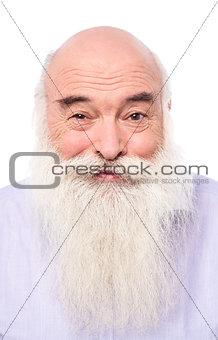 Close up portrait of an senior man