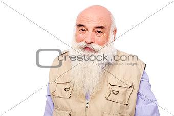 Mature man wearing a jacket