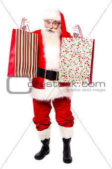 Here are your gift bags, Merry Christmas.