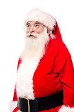 Aged Santa looking upwards