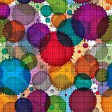 Colorful splattered web design repeat pattern, overlay art ink b