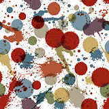 Colorful watercolor graffiti splash overlay elements, inaccurate