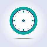 Abstract chronometer icon green color