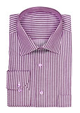 folded shirt with purple stripes on a white background