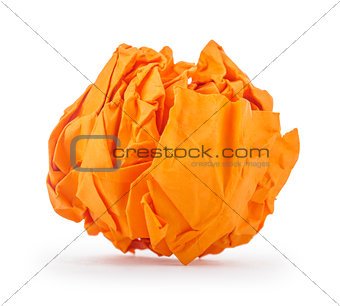 crumpled paper in the form of fire isolated on white background