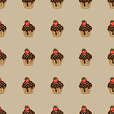 Choco cake brown seamless pattern
