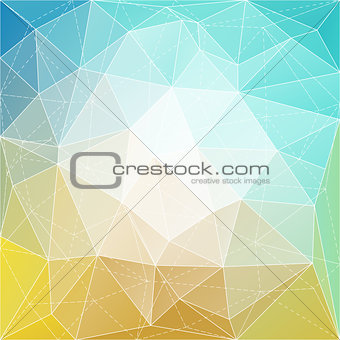 Abstract triangle mosaic gradient colorful background