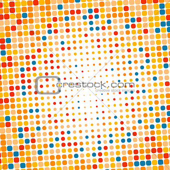 Abstract dotted colorful gradient background