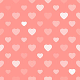 Pink seamless background with hearts