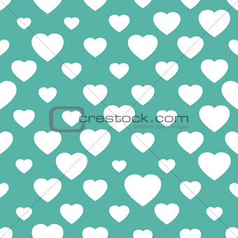 Abstract seamless background with hearts