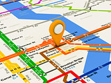 New York navigation subway map