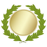 Green Laurel Wreath With Gold Medal