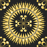 vector seamless floral gold pattern