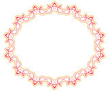 Openwork red orange vector frame