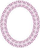 Openwork violet vector frame