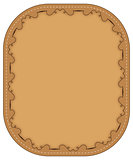 Vector  brown frame with pattern