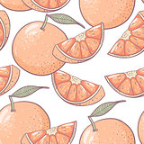 Grapefruit seamless pattern