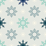 Snowflake seamless winter seamless pattern