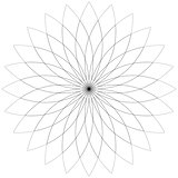 Flower  lotus silhouette for design. Vector illustration.
