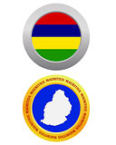 button as a symbol  MAURITIUS